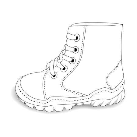 baby shoes: Baby shoes on white background - beautiful illustration