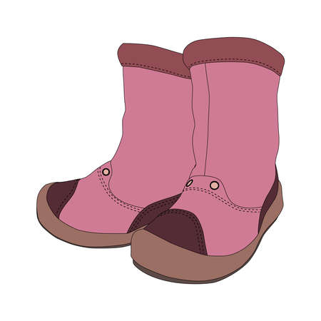 girl boots: Girl boots on white background - vector illustration