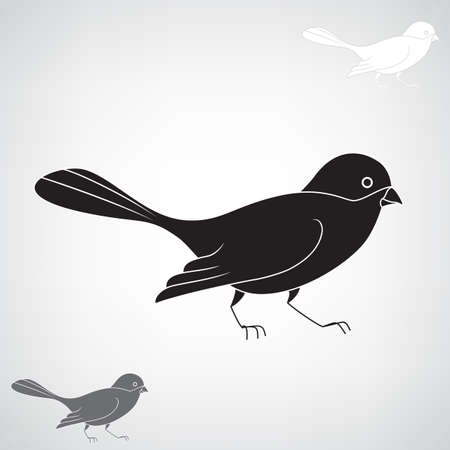 nature silhouette: Black silhouette of a bird Illustration