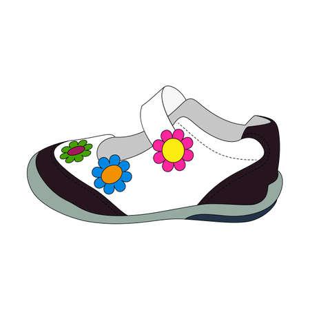 sandalias: Sandalias de los niños para las niñas. Vectores