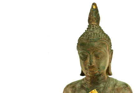 aukana buddha: Buddha head isolated on white background