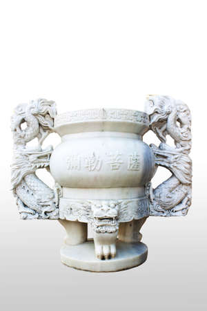 Incense burner isolated on white background.