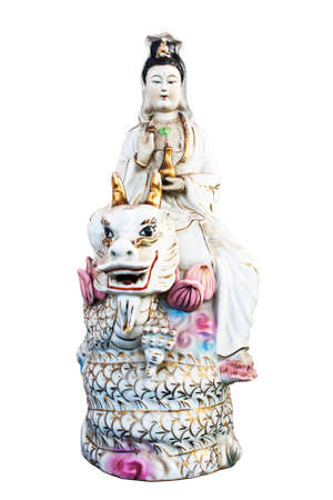 Kuan yin Riding the Dragon  photo
