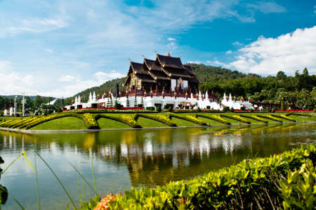 horticultural: Ho kham luang in the international horticultural exposition 2011, the northern thai style building in royal flora expo,Chiang mai, Thailand