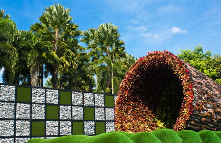 horticultural: Tunnel of flowers in the international horticultural exposition,Royal flora expo 2011,Chiang mai, Thailand