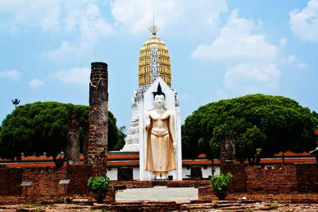 White Statue of Buddha in Thailand Stock Photo - 13681882