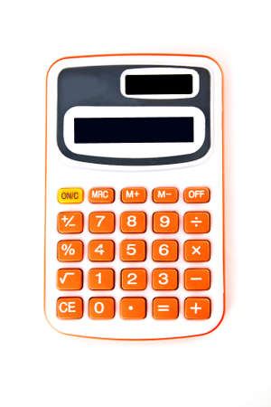 Calculator isolated on pure white background  photo