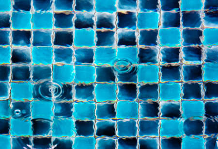 Aqua blue tile pool  photo
