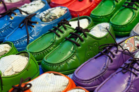 Colorful sneaker shoes on sale photo