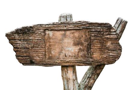 Grunge cement sign isolated on white background Standard-Bild