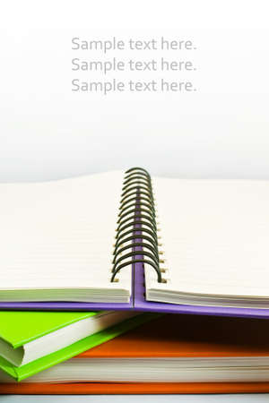 Stack of books isolated on the white background Stock Photo - 15012845