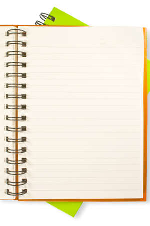 Opened blinder book with blank pages Stock Photo - 15012846
