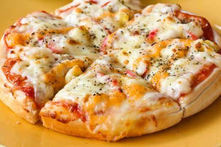 おいしいピザのクローズ アップ