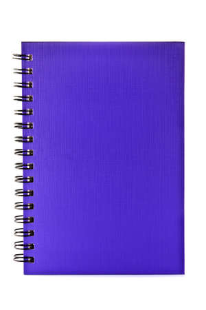 colorful ring binder book or notebook isolated on white background  photo