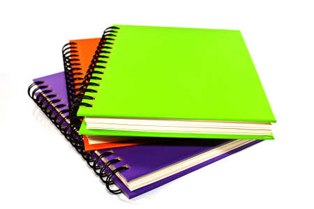 stack of ring binder book or notebook isolated on white Stock Photo - 15082527