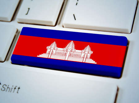 Association of Southeast Asian Nations Flag on keyboard button.Canbodia photo