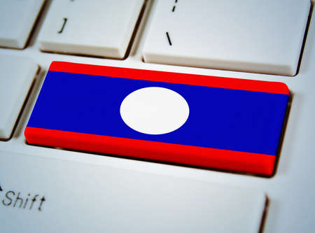 Association of Southeast Asian Nations Flag on keyboard button,Laos photo