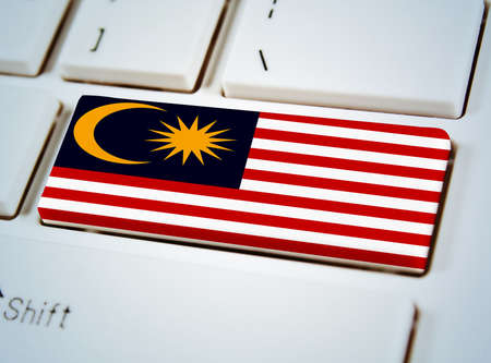 Association of Southeast Asian Nations Flag on keyboard button.Malaysia photo