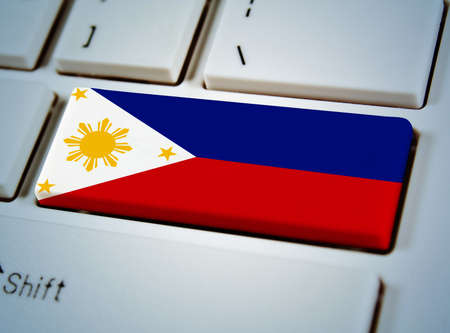 Association of Southeast Asian Nations Flag on keyboard button.Philippines photo