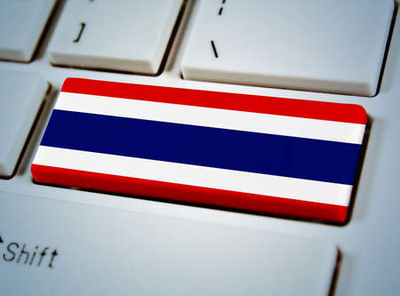 Association of Southeast Asian Nations Flag on keyboard button.Thailand photo