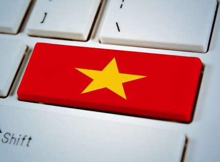 Association of Southeast Asian Nations Flag on keyboard button.Vietnam photo