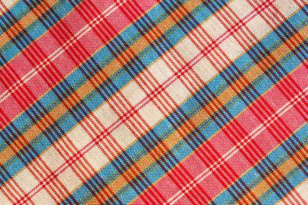 Texture of handmade Thai style cloth, Thailand. Stock Photo