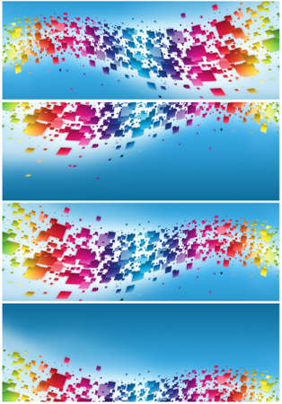 Abstract digital lights blue background Stock Photo - 16155927