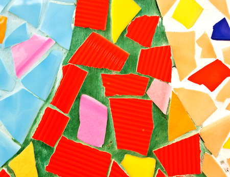 abstract of colorful flagstones photo