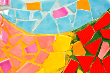 abstract of colorful flagstones