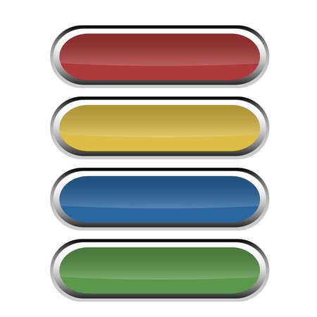 Set of round buttons with glossy effect for web using  Vector