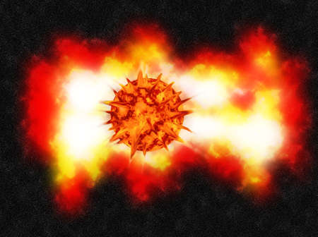 EXPLOSION in deep space and a NEBULA Stock Photo - 17139794