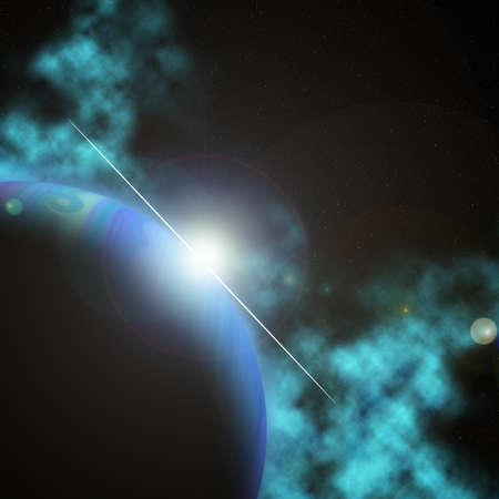 nebula on black space background  Stock Photo - 17116332