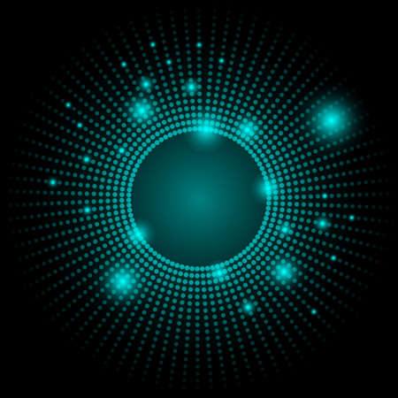 neon wallpaper: Dots colorato sfondo astratto Vettoriali