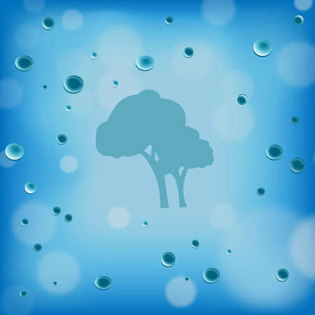 Water Droplets on Window Abstract Background Stock Vector - 17690519