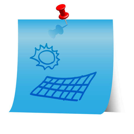 Energy resource icon on blue paper note. Stock Vector - 18139985
