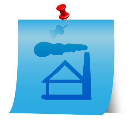 Energy resource icon on blue paper note. Vector