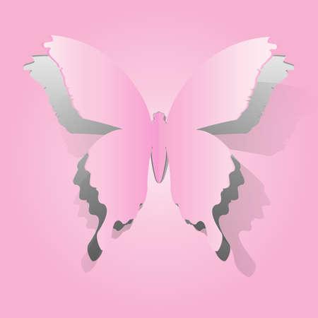 figuras abstractas: Papel forma de mariposa