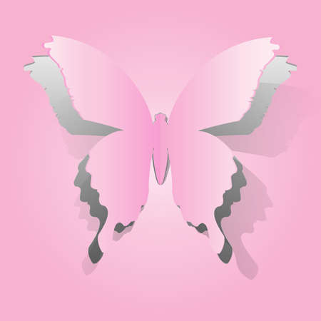 handmade abstract: Paper butterfly shape Illustration