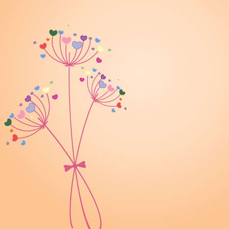 Pastel flower background. Vector