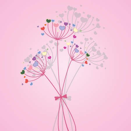 Pastel flower background. Vector