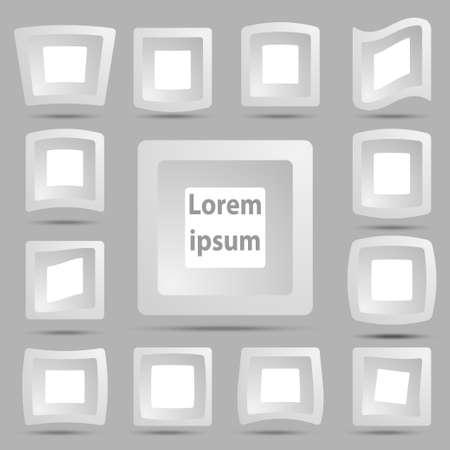 Abstract 3D logo design template Vector icon  Vector