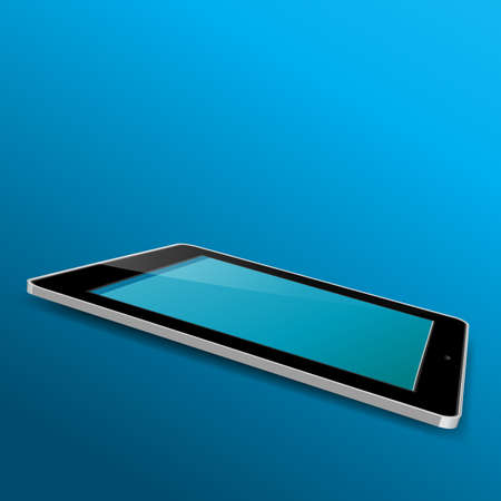 Tablet illustrator isolated  Vector