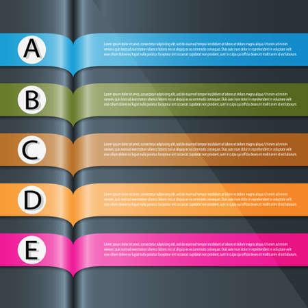 インフォ グラフィックのモダンなデザインのテンプレートを使用できます。  イラスト・ベクター素材