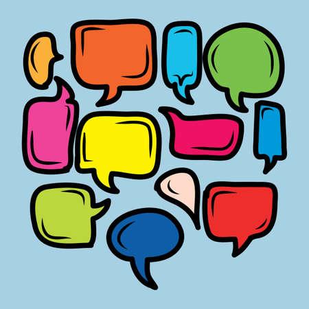 colorful comical bubble talk EPS10