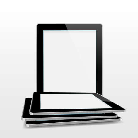 Tablet illustrator isolated on white background EPS10 Vector