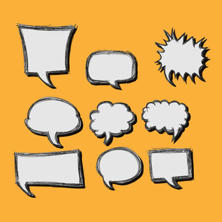A collection of comic style speech bubbles  Vector illustration  Vector