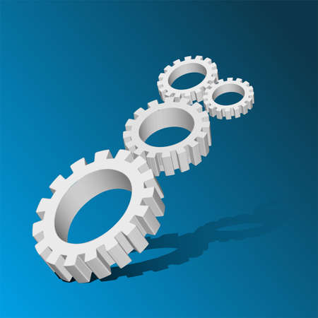 Cogwheel with reflect Abstract business blue background EPS 10 Vector