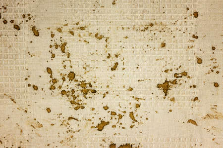 Coffee stains on the tablecloth. photo
