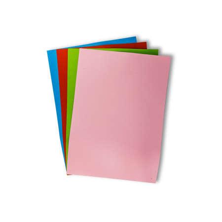 カラフルな紙の背景に使われる白で隔離