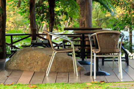 Relaxation area in a garden,landscape design photo